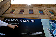 "Oustide of the Musée Granet hosting a ""Picasso Cézanne* exibition."