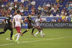 September 27, 2017 - Harrison, New Jersey, United States - Bradley Wright-Phillips (99) of Red Bulls controls ball during regular MLS game against DC United at Red Bull Arena Game ended in draw 3 - 3  (Credit Image: © Lev Radin/Pacific Press via ZUMA Wire)