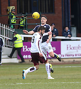 Dundee&rsquo;s Darren O&rsquo;Dea and Hearts&rsquo; Juanma Delgado - Dundee v Hearts - Ladbrokes Premiership at Dens Park <br />  - &copy; David Young - www.davidyoungphoto.co.uk - email: davidyoungphoto@gmail.com