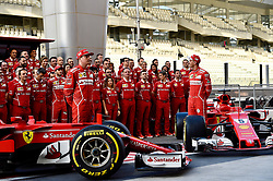 November 24, 2017 - Yas Marina Circuit, Abu Dhabi - Kimi Raiikkoenen, Sebastian Vettel, Scuderia Ferrari, formula 1 GP, Abu Dhabi, Yas Marina Circuit, VAE, 24.11.2017.Photo:mspb/Jerry Andre.Credit: Melzer/face to face (Credit Image: © face to face via ZUMA Press)