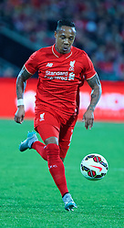 ADELAIDE, AUSTRALIA - Monday, July 20, 2015: Liverpool's Nathaniel Clyne in action against Adelaide United during a preseason friendly match at the Adelaide Oval on day eight of the club's preseason tour. (Pic by David Rawcliffe/Propaganda)