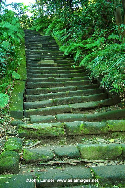 Ancient Stairway at Zuisenji Temple in Kamakura
