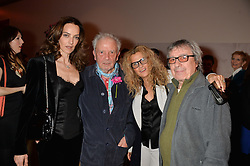 Left to right, CATHERINE BAILEY, DAVID BAILEY, SUZANNE WYMAN and BILL WYMAN at a private view of photographs by David Bailey entitled 'Bailey's Stardust' at the National Portrait Gallery, St.Martin's Place, London on 3rd February 2014.