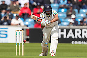 Jack Leaning of Yorkshire leaves the ball during the opening day of the Specsavers County Champ Div 1 match between Yorkshire County Cricket Club and Hampshire County Cricket Club at Headingley Stadium, Headingley, United Kingdom on 27 May 2019.