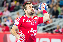 Horvat Zlatko (CRO) during handball match between National teams of Croatia and Czech Republic in 5/6 placement match of Men's EHF EURO 2018, on January 26, 2018 in Arena Zagreb, Zagreb, Croatia. Photo by Men's EHF EURO 2018 in Croatia, half final match in Zagreb: France vs Spain / Sportida