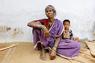 Grandmother and grandson in Tamil Nadu, India