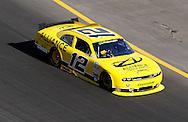 Nov. 12 2011; Avondale, AZ, USA; NASCAR Nationwide Series driver Sam Hornish Jr. (22) races during the Wypall 200 at Phoenix International Raceway. Mandatory Credit: Jennifer Stewart-US PRESSWIRE