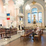 Interior of St Pauls Chapel in Lower Manhattan