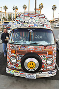 Hippie Volkswagen Van at the Huntington Beach Pier