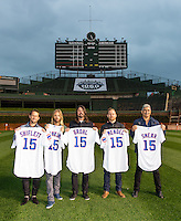 Foo Fighters promo shoot for the tour at Wrigley Field in Fall 2015