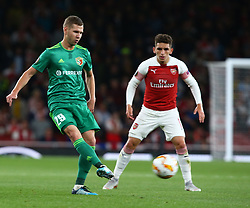 September 20, 2018 - London, England, United Kingdom - Dmytro Kravchenko of FC Vorskla Poltava.during UAFA Europa League Group E between Arsenal and FC Vorskla Poltava at Emirates stadium , London, England on 20 Sept 2018. (Credit Image: © Action Foto Sport/NurPhoto/ZUMA Press)