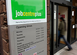 FILE PICTURE © Licensed to London News Pictures. 12/10/2011. London, United Kingdom .People going into Forest Hill Job Centre Plus on the day unemployment figures are released by the Government..Photo credit : Chris Winter/LNP