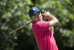 May 26, 2018 - Fort Worth, TX, USA - FORT WORTH, TX - MAY 26, 2018 - Jordan Spieth tees off on the 6th hole during the third round of the 2018 Fort Worth Invitational PGA at Colonial Country Club in Fort Worth, Texas (Credit Image: © Erich Schlegel via ZUMA Wire)