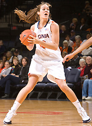 Virginia forward Chelsea Shine (50) in action against Colorado.  The #16 ranked Virginia Cavaliers women's basketball team defeated the Colorado Buffaloes 77-43 at the John Paul Jones Arena on the Grounds of the University of Virginia in Charlottesville, VA on November 24, 2008.