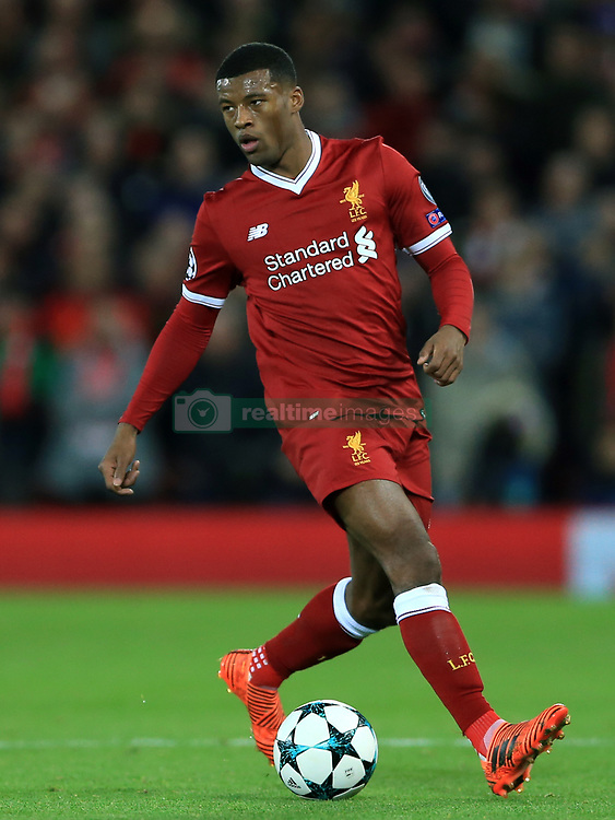 Liverpool's Georginio Wijnaldum during the UEFA Champions League, Group E match at Anfield, Liverpool. PRESS ASSOCIATION Photo. Picture date: Wednesday December 6, 2017. See PA Story SOCCER Liverpool. Photo credit should read: Tim Goode/PA Wire