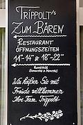 Bad St. Leonhard, Carinthia, Austria. Trippolts Zum Bären gourmet restaurant.