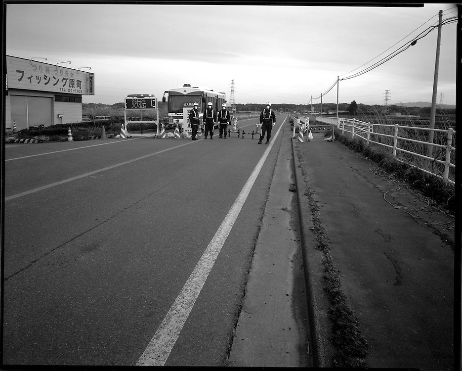 Edge of Exclusion zone  in Minamisoma  edge of the  20km  exclusion  azone