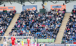 Fans in the South Stand.<br /> Falkirk 2 v 1 Raith Rovers, Scottish Championship game played today at The Falkirk Stadium.<br /> &copy; Michael Schofield.