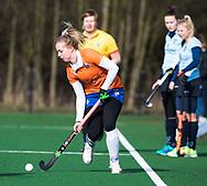 BLOEMENDAAL - Fee Schreuder (Bldaal)  hoofdklasse competitie dames, Bloemendaal-Nijmegen (1-1) COPYRIGHT KOEN SUYK