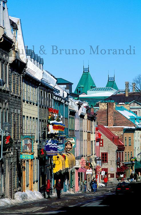 Canada, Province du Quebec, Ville de Quebec, Rue Saint Louis // Canada, Quebec province, Quebec city, Saint Louis street