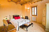 Villa San Donato in Italy, on the border between Tuscany and Lazio. Double bedroom.