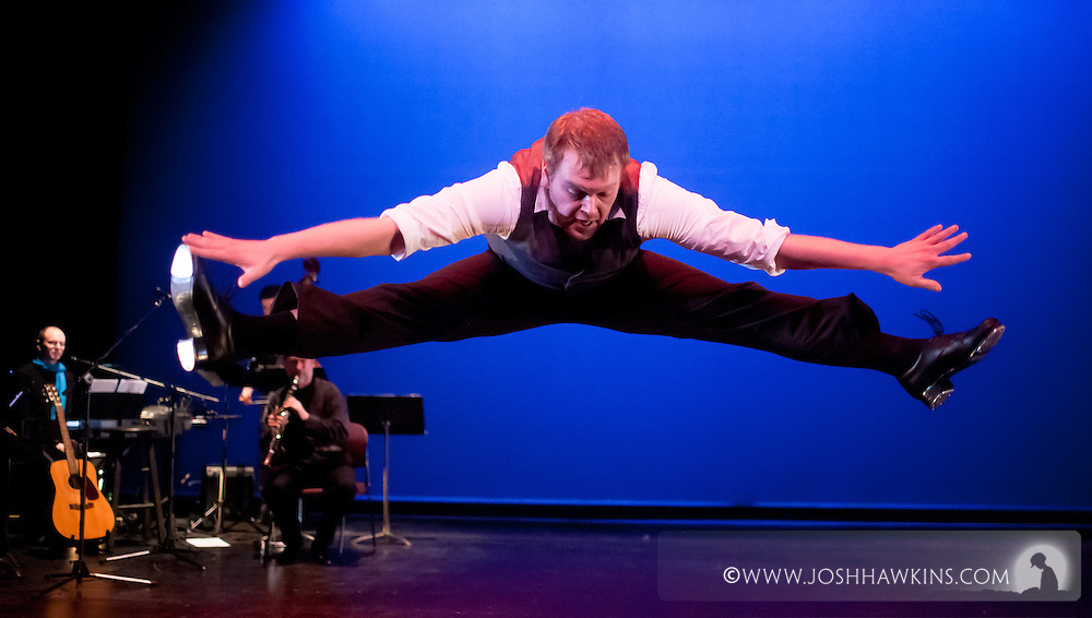"""Chicago Tap Theatre's """"Tidings of Tap"""" performed at UIC Theatre in Chicago, IL on Dec 9-11, 2011..Hannukah, Oh Hannukah, choreography by Mark Yonally, pictured dancer(s): Rich Ashworth"""