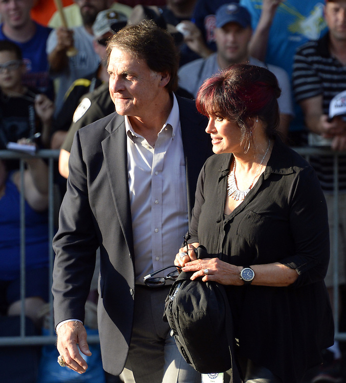COOPERSTOWN, NY - JULY 26:  2014 Hall of Fame inductee Tony LaRussa participates in the annual Parade of Legends down Main Street in Cooperstown, New York on July 26, 2014.