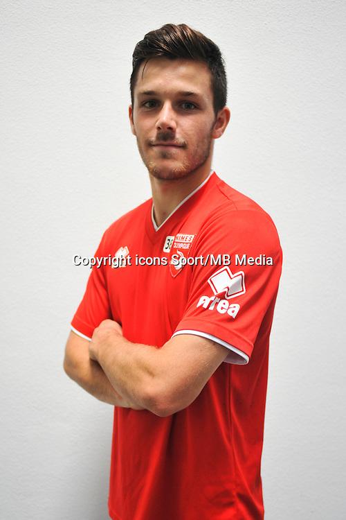 Antonin BOBICHON - 16.09.2014 - Photo officielle Nimes - Ligue 2 2014/2015<br /> Photo : Icon Sport