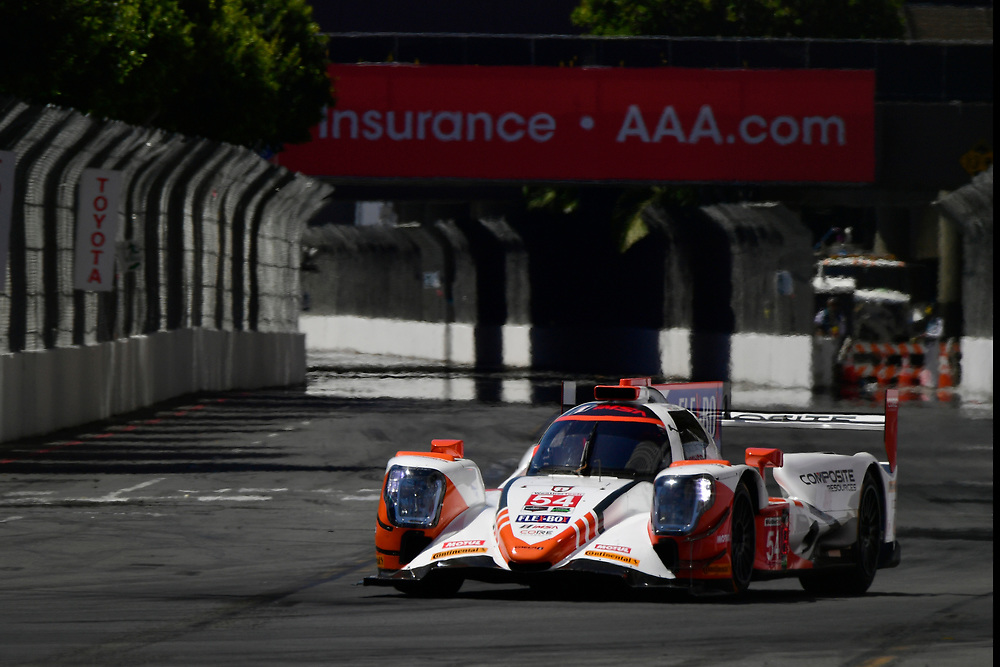 #54 CORE autosport ORECA LMP2, P: Jon Bennett, Colin Braun<br /> Saturday 14 April 2018<br /> BUBBA burger Sports Car Grand Prix at Long Beach<br /> Verizon IndyCar Series<br /> Streets of Long Beach CA USA<br /> World Copyright: Scott R LePage<br /> LAT Images