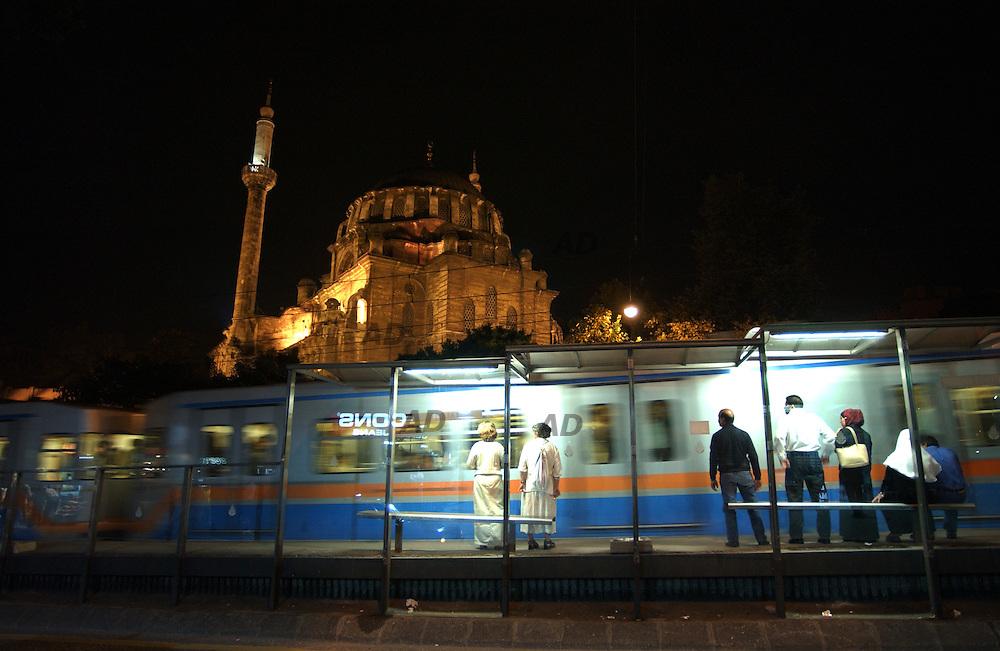 Aksaray tram stop.