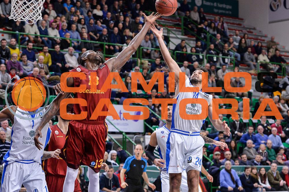 DESCRIZIONE : Eurocup Last 32 Group N Dinamo Banco di Sardegna Sassari - Galatasaray Odeabank Istanbul<br /> GIOCATORE : Stephane Lasme Rok Stipcevic<br /> CATEGORIA : Rimbalzo<br /> SQUADRA : Dinamo Banco di Sardegna Sassari<br /> EVENTO : Eurocup 2015-2016 Last 32<br /> GARA : Dinamo Banco di Sardegna Sassari - Galatasaray Odeabank Istanbul<br /> DATA : 13/01/2016<br /> SPORT : Pallacanestro <br /> AUTORE : Agenzia Ciamillo-Castoria/L.Canu