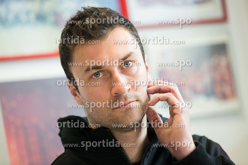 Sabahudin Kovacevic during press conference of Slovenian National Ice Hockey Team at the beginning of the Training Camp for IIHF World Championship Division I in Katowice (Poland), on April 4, 2016 in Arena Podmezakla, Jesenice, Slovenia. Photo by Vid Ponikvar / Sportida