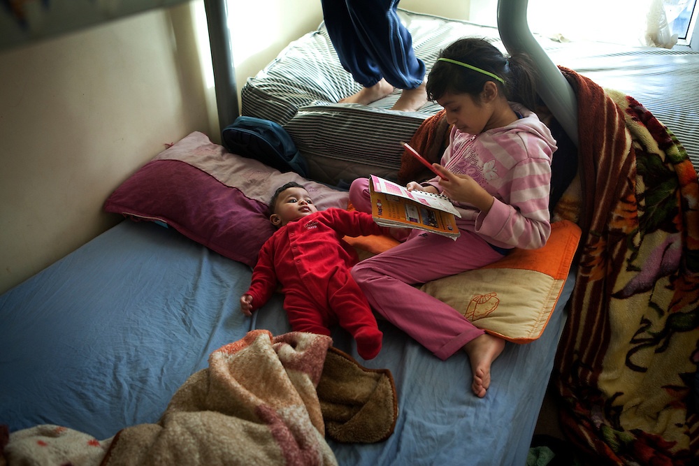 Bibi and her children live in a small house in east London. It is cold and damp.