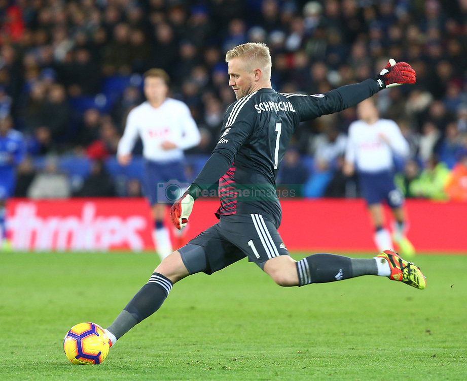 December 8, 2018 - Leicester, England, United Kingdom - Leicester, December 08, 2018.Leicester City's Kasper Schmeichel.during the English Premier League match between Leicester City and Tottenham Hotspur at the King Power Stadium in Leicester, Britain, 8 December 2018  (Credit Image: © Action Foto Sport/NurPhoto via ZUMA Press)