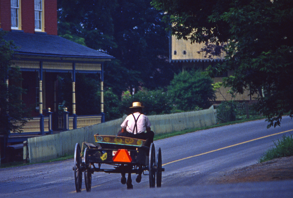 Amish farm wagon buggy, Mascot Mill, Lancaster County, PA