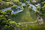Aerial view of Alhambra Hall in Mt Pleasant, SC