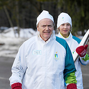 Vancouver business tycoon Jimmy Patterson, before his Olympic torch run.  February 5th, 2010.  Whistler BC, Canada..
