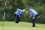 Rodney Lyons and Pat McEnroe (Co Cavan GC) during the All Ireland Fourball Inter Club Ulster finals, Killymoon Golf Club, Cookstown, Tyrone, Northern Ireland. 25/08/2019.<br /> Picture Fran Caffrey / Golffile.ie<br /> <br /> All photo usage must carry mandatory copyright credit (© Golffile | Fran Caffrey)