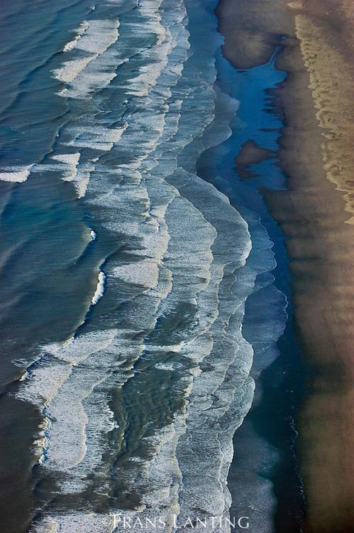 Coastal surf (aerial), Wrangell St. Elias National Park, Alaska