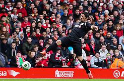 Luis Suarez controls the ball - Photo mandatory by-line: Dougie Allward/JMP - Mobile: 07966 386802 - 29/03/2015 - SPORT - Football - Liverpool - Anfield Stadium - Gerrard's Squad v Carragher's Squad - Liverpool FC All stars Game