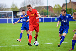 LEICESTER, ENGLAND - Easter Monday, April 17, 2017: Liverpool's Nathaniel Phillips in action against Leicester City during the Under-23 FA Premier League 2 Division 1 match at Holmes Park. (Pic by Concepcion Valadez/Propaganda)