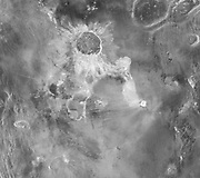 Crater Isabella, with a diameter of 175 kilometers, seen in this Magellan radar image, is the second largest impact crater on Venus.