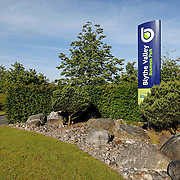 Signage at the entrance to a business park