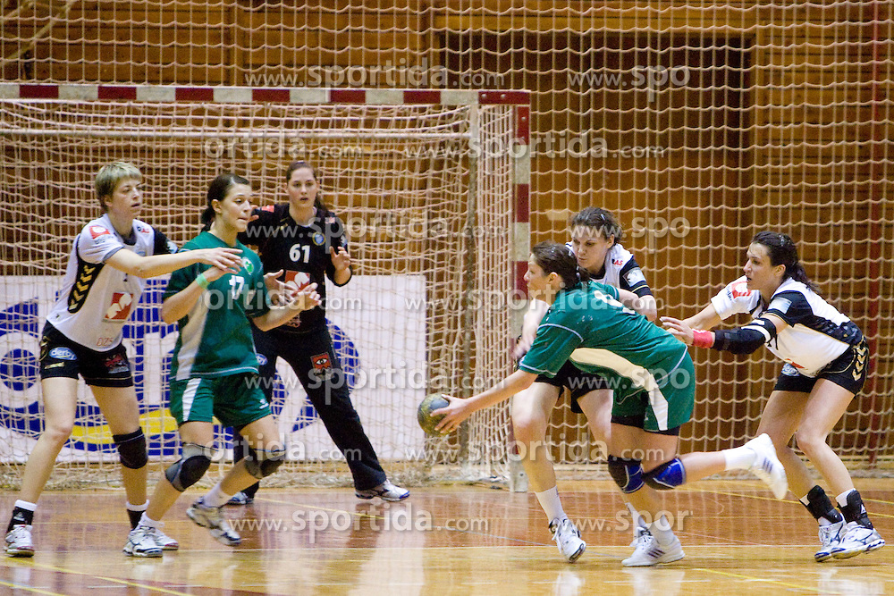 Nina Jericek at last 10th Round handball match of Slovenian Women National Championships between RK Krim Mercator and RK Olimpija, on May 15, 2010, in Galjevica, Ljubljana, Slovenia. Olimpija defeated Krim 39-36, but Krim became Slovenian National Champion. (Photo by Vid Ponikvar / Sportida)