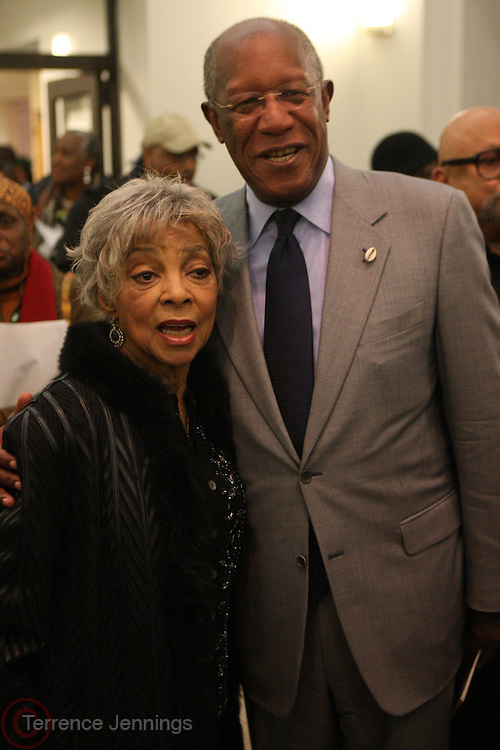 6 January 2011- Harlem, New York-l to r: Ruby Dee and Howard Dodson at the Opening for The State of African American and African Diaspora Studies Conference held at the The Schomburg Center for Research in Black Culture on January 6, 2011 in the Village of Harlem. Photo Credit Terrence Jennings