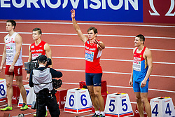 07.03.2015, O2 Arena, Prag, CZE, Europäische Athletik Innenmeisterschaften 2015, im Bild Heptathlon Men 60m, siedmioboj mezczyn, bieg na 69m, Adam Helcelet CZE // during European Athletics Indoor Championships O2 Arena in Prag, Czech Republic on 2015/03/07. EXPA Pictures © 2015, PhotoCredit: EXPA/ Newspix/ Lukasz Skwiot / Foto Olimpik<br /> <br /> *****ATTENTION - for AUT, SLO, CRO, SRB, BIH, MAZ, TUR, SUI, SWE only*****