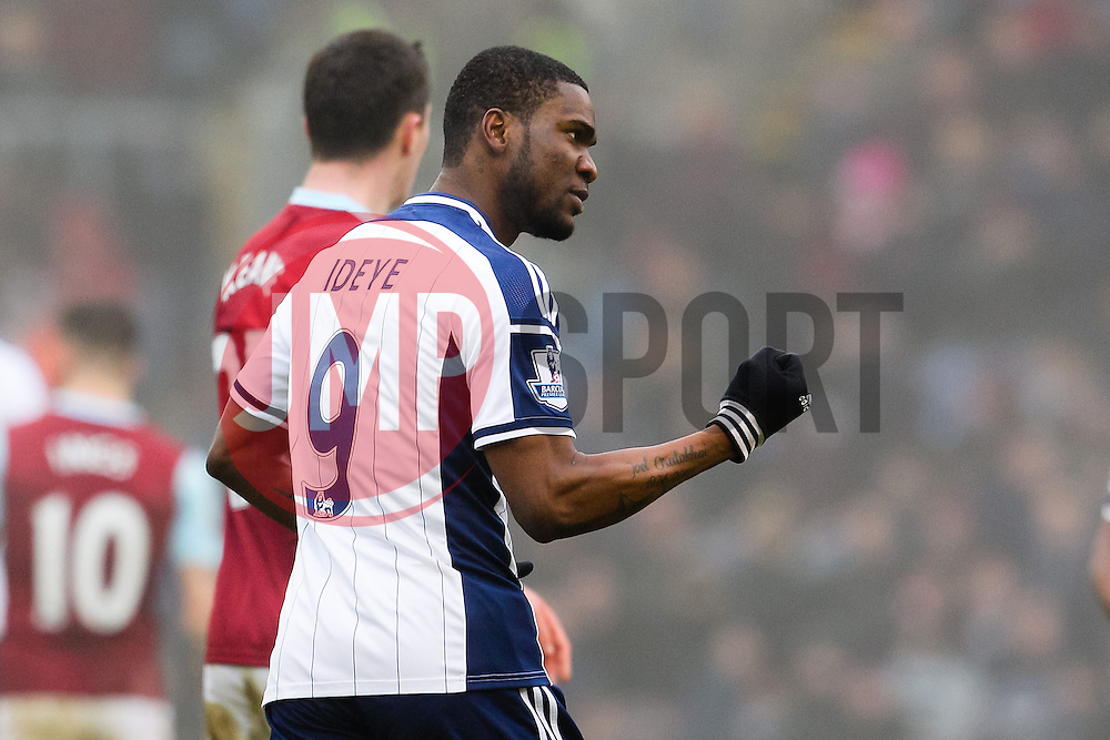 West Brom's Brown Ideye celebtrates after scoring the equaliser for 2-2  - Photo mandatory by-line: Matt McNulty/JMP - Mobile: 07966 386802 - 08/02/2015 - SPORT - Football - Burnley - Turf Moor - Burnley v West Brom - Barclays Premier League