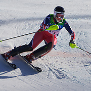 Winter Olympics, Vancouver, 2010.Chemmy Alcott, Great Britain,  in action in the Alpine Skiing Ladies Super Combined competition at Whistler Creekside, Whistler, during the Vancouver Winter Olympics. 18th February 2010. Photo Tim Clayton