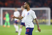 England midfielder Raheem Sterling during the Friendly match between Netherlands and England at the Amsterdam Arena, Amsterdam, Netherlands on 23 March 2018. Picture by Phil Duncan.
