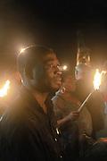 fiaccolata contro la tratta di esseri umani organizzata dall'associazione &quot;Donne del Benin&quot; a Palermo.<br /> torch procession against human trafficking organized by the association &quot;Women from Benin&quot;